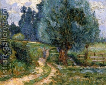Stroller on the Banks of the Orge by Armand Guillaumin - Reproduction Oil Painting