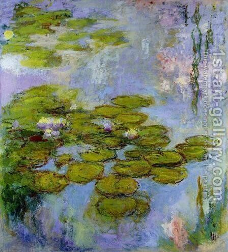 Water-Lilies 38 by Claude Oscar Monet - Reproduction Oil Painting