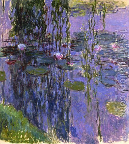 Water-Lilies 39 by Claude Oscar Monet - Reproduction Oil Painting