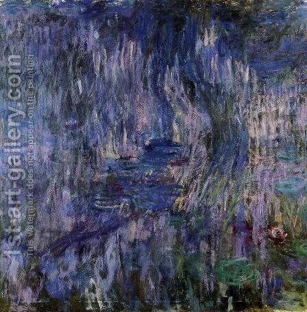 Water-Lilies, Reflection of a Weeping Willow by Claude Oscar Monet - Reproduction Oil Painting