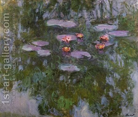Water-Lilies 40 by Claude Oscar Monet - Reproduction Oil Painting