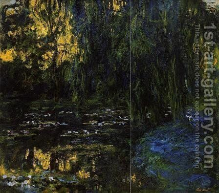 Weeping Willow and Water-Lily Pond (detail) by Claude Oscar Monet - Reproduction Oil Painting