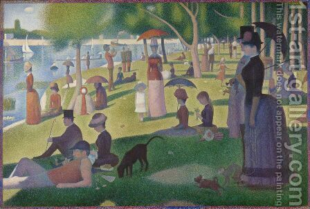 A Sunday Afternoon on the Island of La Grande Jatte by Georges Seurat - Reproduction Oil Painting