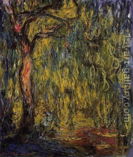 Weeping Willow I by Claude Oscar Monet - Reproduction Oil Painting