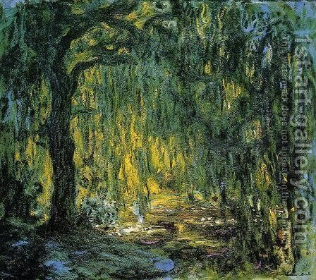 Weeping Willow II by Claude Oscar Monet - Reproduction Oil Painting