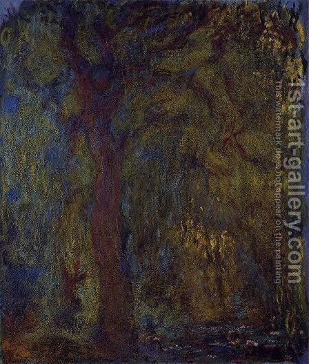 Weeping Willow III by Claude Oscar Monet - Reproduction Oil Painting