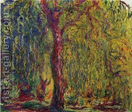 Weeping Willow V by Claude Oscar Monet - Reproduction Oil Painting