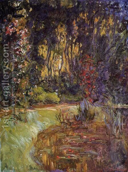 Water-Lily Pond at Giverny 2 by Claude Oscar Monet - Reproduction Oil Painting
