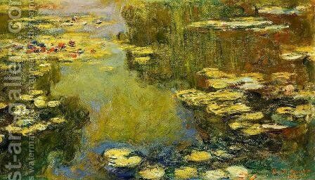 The Water-Lily Pond (detail) I by Claude Oscar Monet - Reproduction Oil Painting