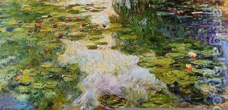 Water-Lilies 41 by Claude Oscar Monet - Reproduction Oil Painting