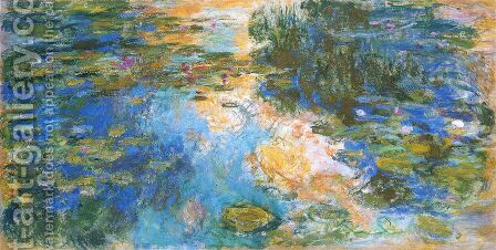 The Water-Lily Pond X by Claude Oscar Monet - Reproduction Oil Painting