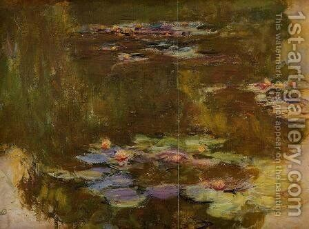 The Water-Lily Pond (right side) by Claude Oscar Monet - Reproduction Oil Painting
