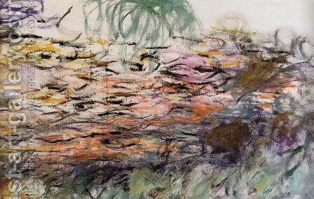 Water-Lilies (right half) by Claude Oscar Monet - Reproduction Oil Painting