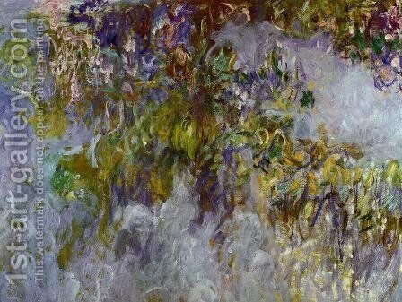 Wisteria (left half) I by Claude Oscar Monet - Reproduction Oil Painting