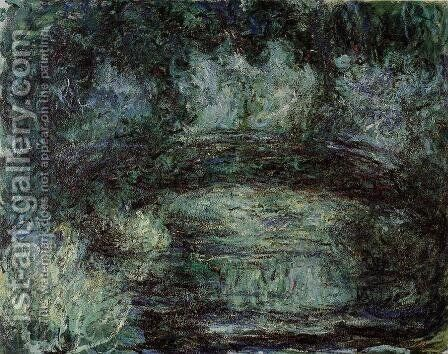 The Japanese Bridge I by Claude Oscar Monet - Reproduction Oil Painting