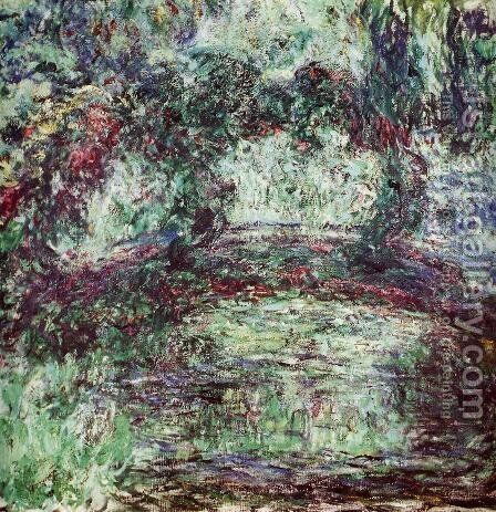The Japanese Bridge II by Claude Oscar Monet - Reproduction Oil Painting