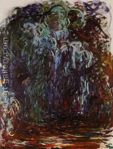 Weeping Willow VII by Claude Oscar Monet - Reproduction Oil Painting