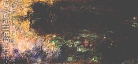 Reflections of Clouds on the Water-Lily Pond (tryptich, right panel) by Claude Oscar Monet - Reproduction Oil Painting