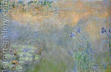 Water-Lily Pond with Irises 2 by Claude Oscar Monet - Reproduction Oil Painting