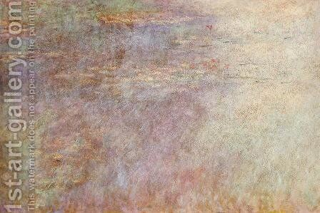 Water-Lillies Pond (left half) by Claude Oscar Monet - Reproduction Oil Painting