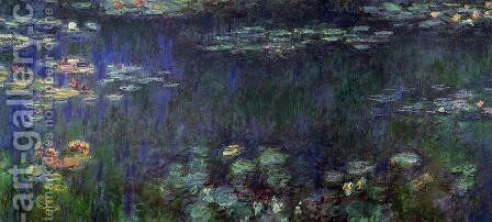Green Reflection (right half) by Claude Oscar Monet - Reproduction Oil Painting