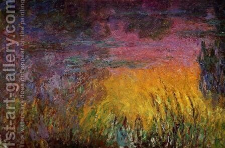 Sunset (left half) by Claude Oscar Monet - Reproduction Oil Painting