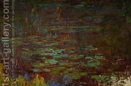 Sunset (right half) by Claude Oscar Monet - Reproduction Oil Painting