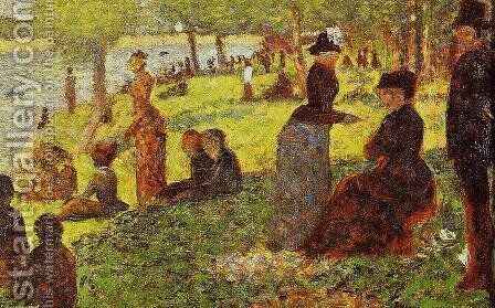 Sketch with Many Figures by Georges Seurat - Reproduction Oil Painting