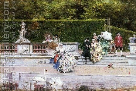 Scene Galante by Giovanni Boldini - Reproduction Oil Painting