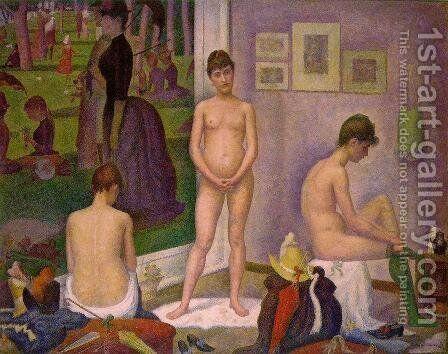 Models by Georges Seurat - Reproduction Oil Painting