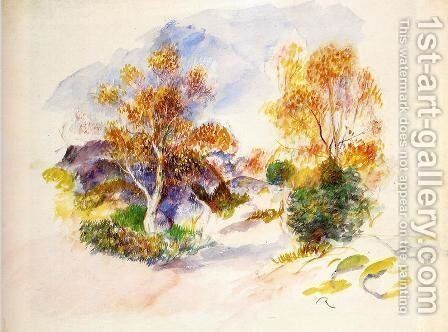 Landscape with Trees 2 by Pierre Auguste Renoir - Reproduction Oil Painting