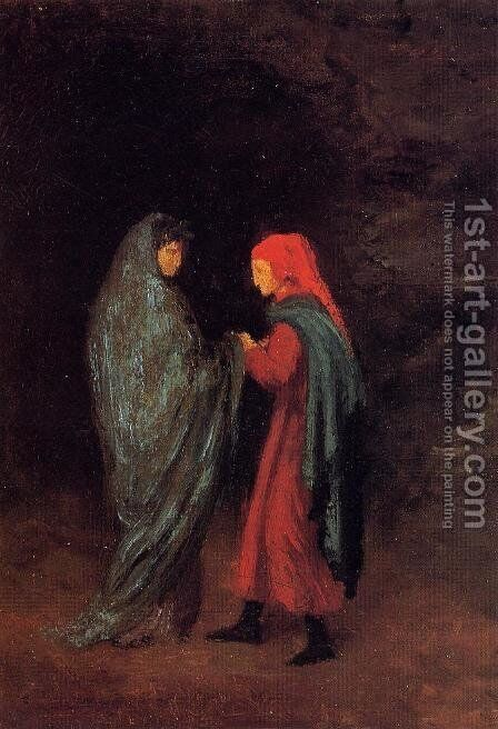 Dante and Virgil at the Entrance to Hell by Edgar Degas - Reproduction Oil Painting