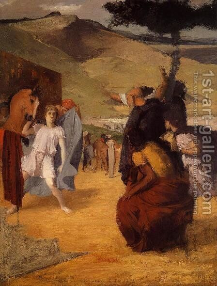 Alexander and Bucephalus by Edgar Degas - Reproduction Oil Painting