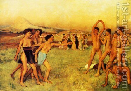 The Young Spartans by Edgar Degas - Reproduction Oil Painting