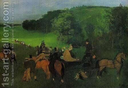 On the Racecourse by Edgar Degas - Reproduction Oil Painting