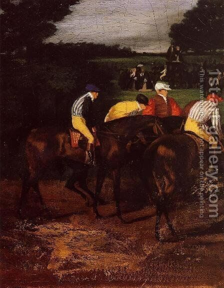 Jockeys at Epsom by Edgar Degas - Reproduction Oil Painting