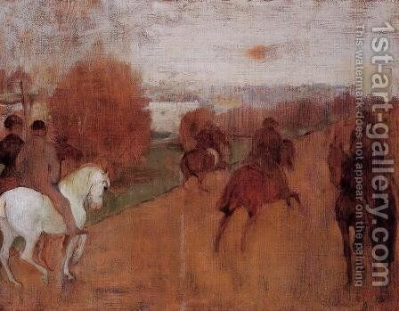 Riders on a Road by Edgar Degas - Reproduction Oil Painting