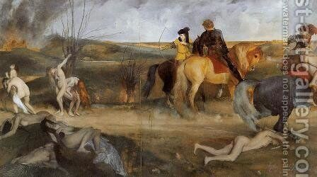 Midieval War Scene by Edgar Degas - Reproduction Oil Painting