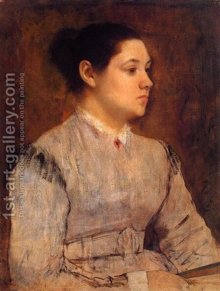 Portrait of a Young Woman 2 by Edgar Degas - Reproduction Oil Painting