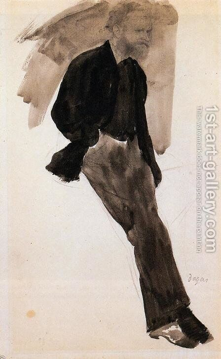 Edouard Manet Standing by Edgar Degas - Reproduction Oil Painting