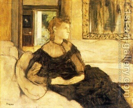 Mme Theodore Gobillard, nee Yves Morisot by Edgar Degas - Reproduction Oil Painting