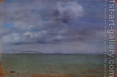 Seascape by Edgar Degas - Reproduction Oil Painting