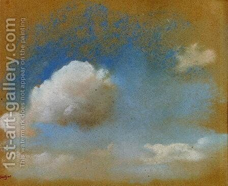 Sky Study by Edgar Degas - Reproduction Oil Painting