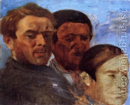Three Heads by Edgar Degas - Reproduction Oil Painting