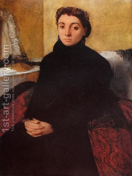 Josephine Gaujean by Edgar Degas - Reproduction Oil Painting