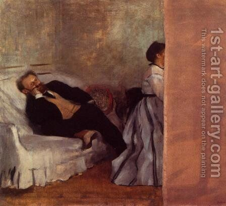 M. and Mme Edouard Manet by Edgar Degas - Reproduction Oil Painting