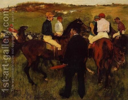Out of the Paddock by Edgar Degas - Reproduction Oil Painting