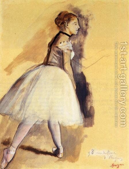 Dancer Standing (study) by Edgar Degas - Reproduction Oil Painting