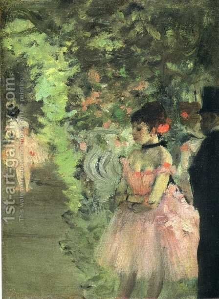 Dancers Backstage by Edgar Degas - Reproduction Oil Painting