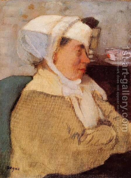 Woman with a Bandage by Edgar Degas - Reproduction Oil Painting